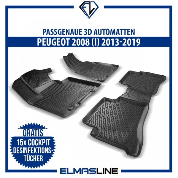Design 3D Gummimatten Set für PEUGEOT 2008 (I) 2013-2019