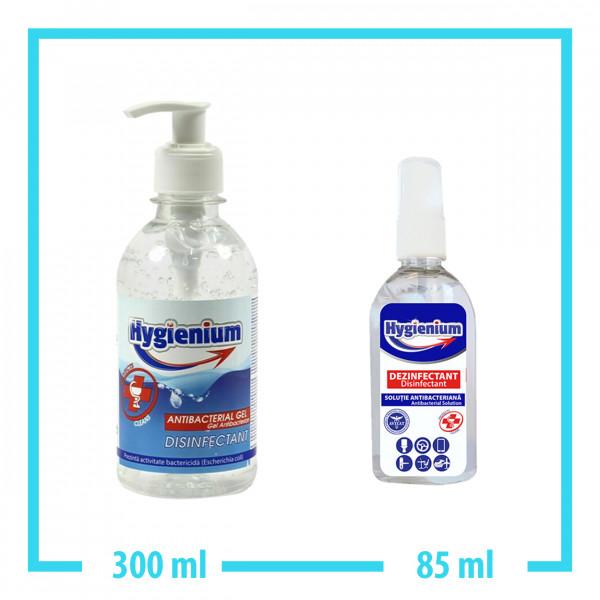 Hygienium 300ml Handgel + 85ml Spray