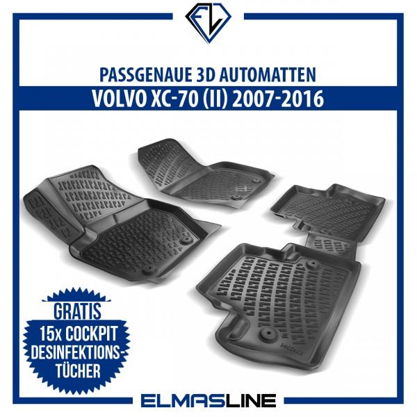 Design 3D Gummimatten Set für VOLVO XC-70 (II) 2007-2016
