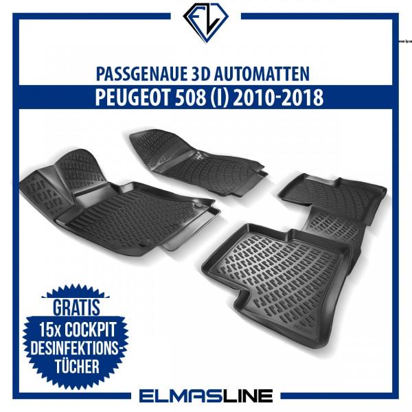 Design 3D Gummimatten Set für PEUGEOT 508 - 2010-2018