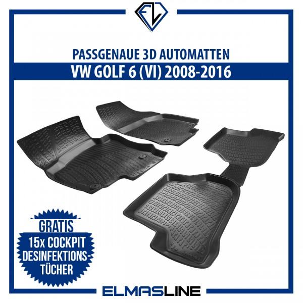 Design Gummimatten für VW GOLF 6 (VI) 2008-2014