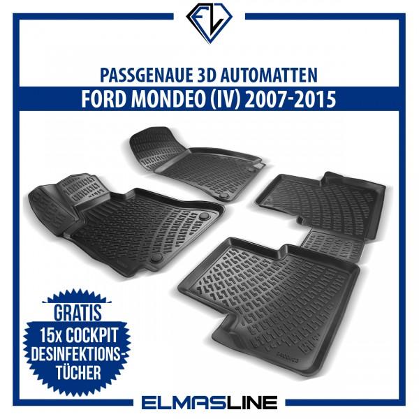 Design 3D Gummimatten Set für FORD MONDEO (IV) 2007-2015