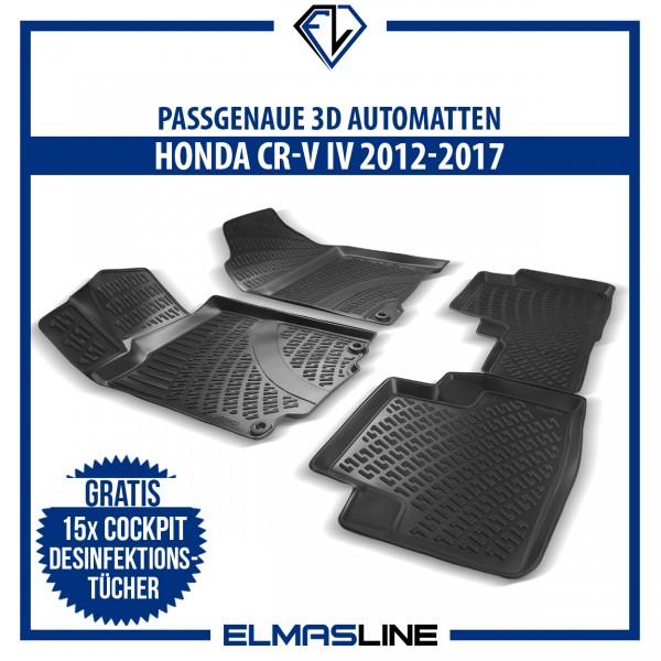 Design 3D Gummimatten Set für HONDA CR-V IV 2012-2017