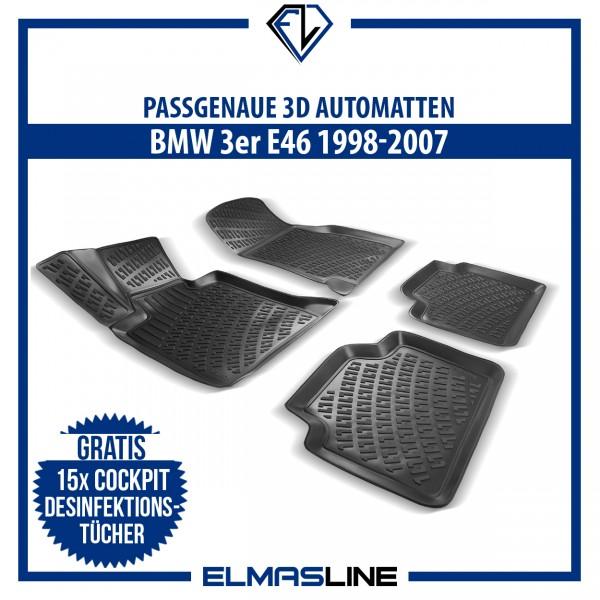Design 3D Gummimatten Set für BMW 3er E46 1998-2007