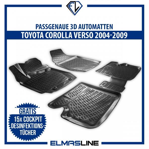 Design 3D Gummimatten Set für TOYOTA COROLLA VERSO (I) 2003-2009