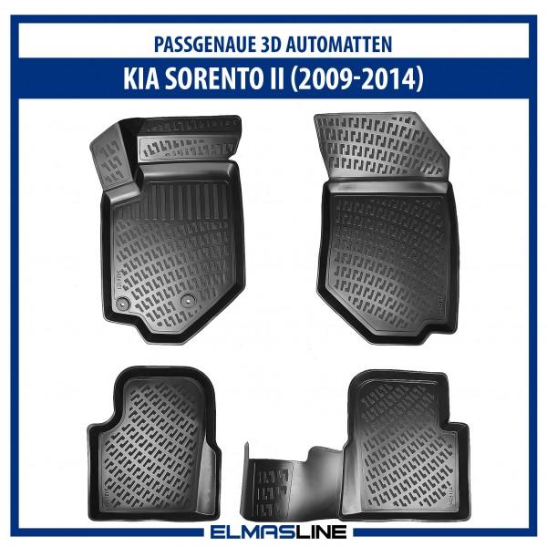 Design 3D Gummimatten Set für KIA SORENTO II 2009-2014