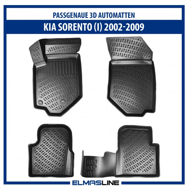 Design 3D Gummimatten Set für KIA SORENTO I 2002-2009