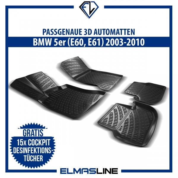 Design 3D Gummimatten Set für BMW 5er E60 E61 2001-2010