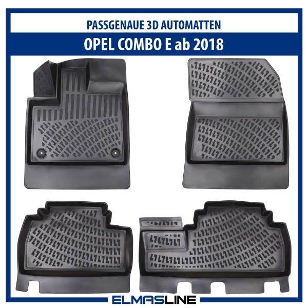 Design 3D Gummimatten Set für OPEL COMBO E ab 2018