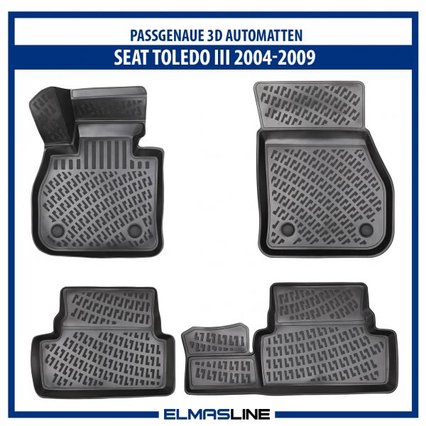 Design 3D Gummimatten Set für SEAT TOLEDO III 2004-2009