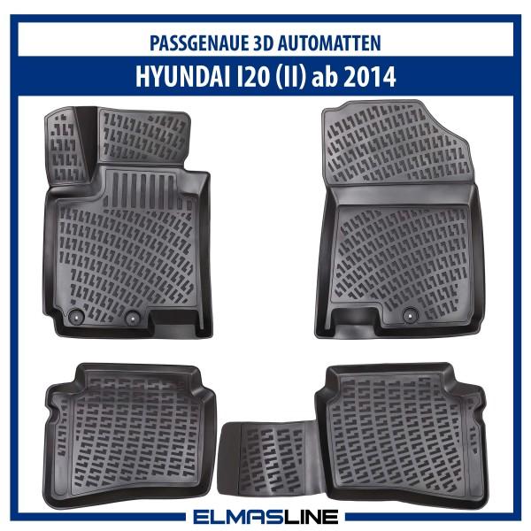 Design 3D Gummimatten Set für HYUNDAI I20 (II) ab 2014