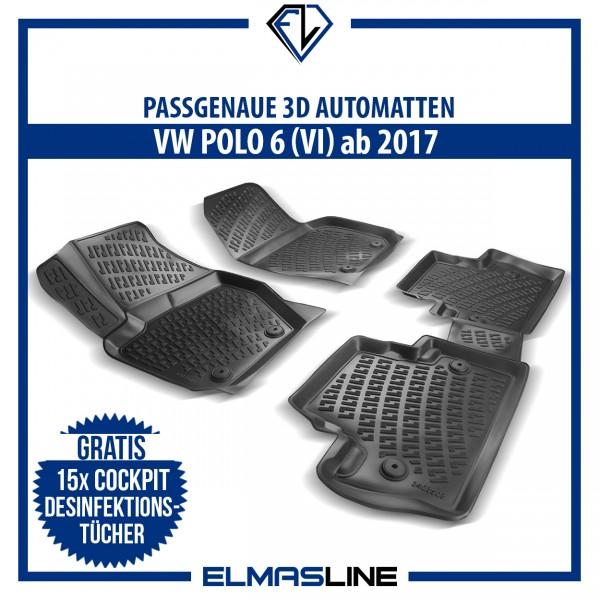 Design 3D Gummimatten Set für VW POLO 6 VI ab 2017