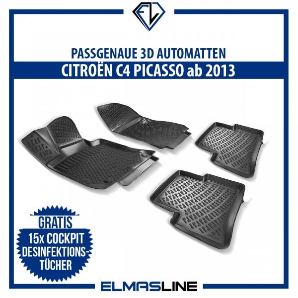 Design 3D Gummimatten Set für CITROËN C4 PICASSO ab 2013