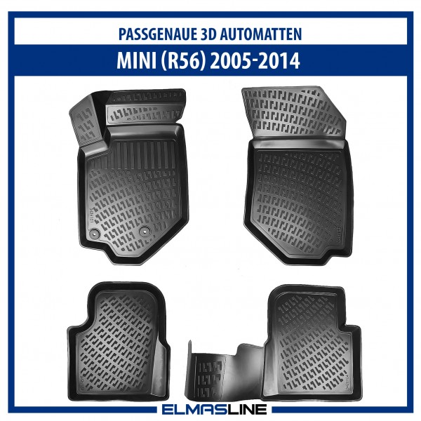 Design 3D Gummimatten Set für MINI COOPER RS6 2005-2014
