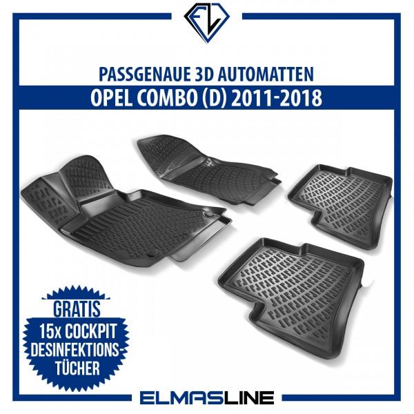 Design 3D Gummimatten Set für OPEL COMBO D 2011-2018