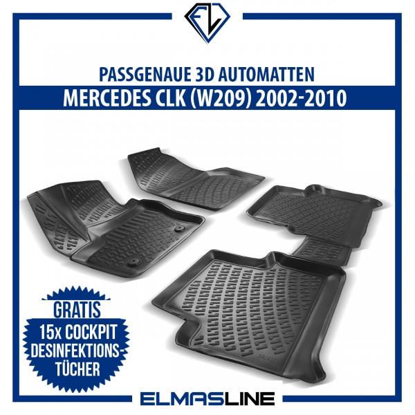 Design 3D Gummimatten Set für MERCEDES CLK (W209) 2002-2010