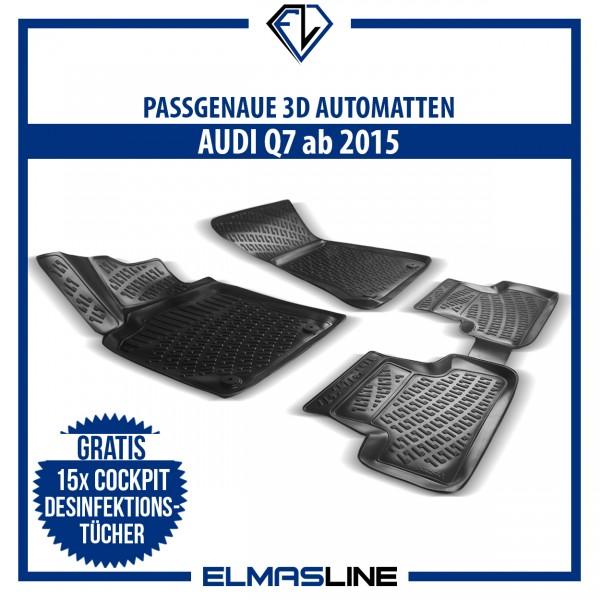 Design 3D Gummimatten Set für AUDI Q7 ab 2015
