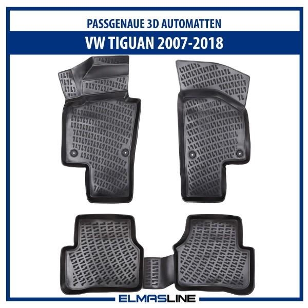 Design 3D Gummimatten Set für VW TIGUAN 2007-2018