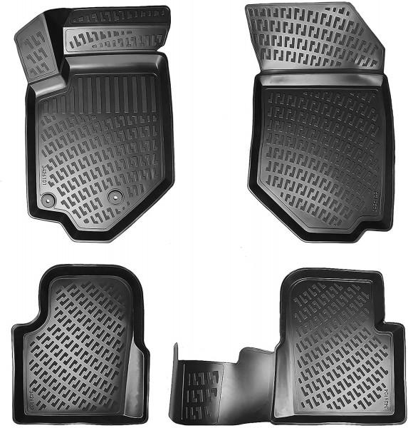 Design 3D Gummimatten Set für PEUGEOT 307 BJ 2001-2009