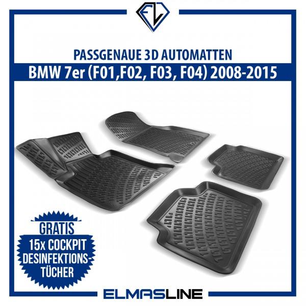 Design 3D Gummimatten Set für BMW 7er (F01 F02 F03 F04) 2008-2015