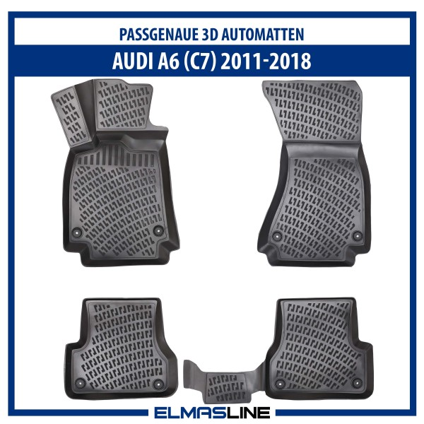 Design 3D Gummimatten Set für AUDI A6 (C7) 2011-2018