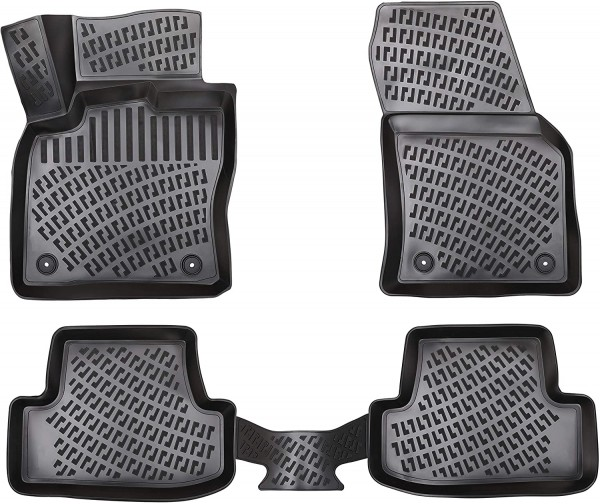 Design 3D Gummimatten Set für SEAT LEON ab 2020 (Automatik)