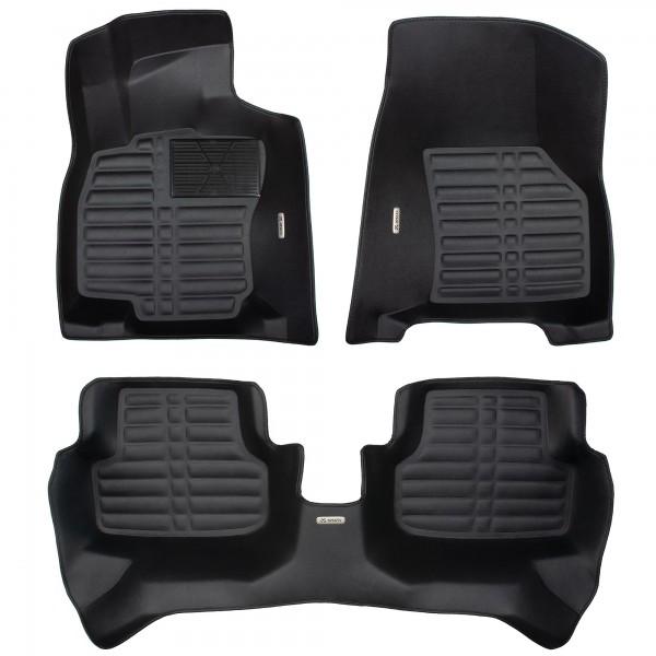 XMATS Premium Leder Automatten Set für VW GOLF 7 ab 2012 | Mit extra hohem Rand