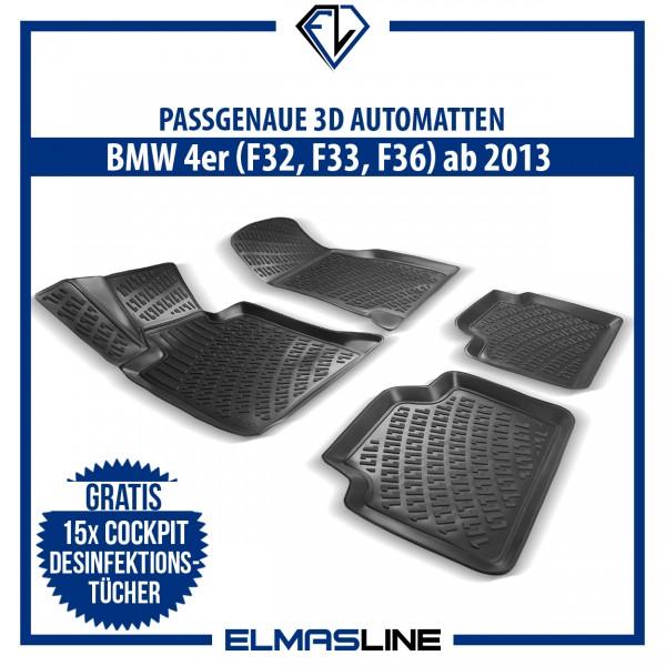 Design 3D Gummimatten Set für BMW 4er (F32, F33, F36) ab 2013