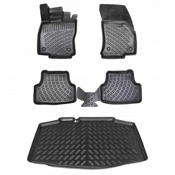 Design Gummimatten & Kofferraumwanne Set für SEAT Ibiza 5 (V) ab 2017