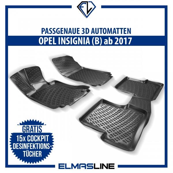 Design 3D Gummimatten Set für OPEL INSIGNIA B ab 2017