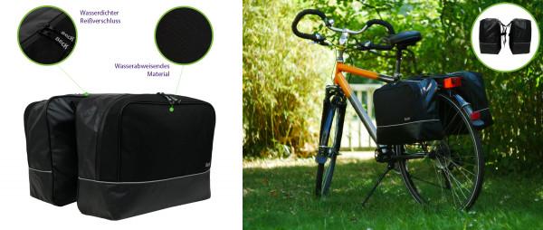 Beck Fahrradtasche wasserdicht Fahrrad Gepäckträge Tasche hinten Gepäcktasche aqua doppel bag