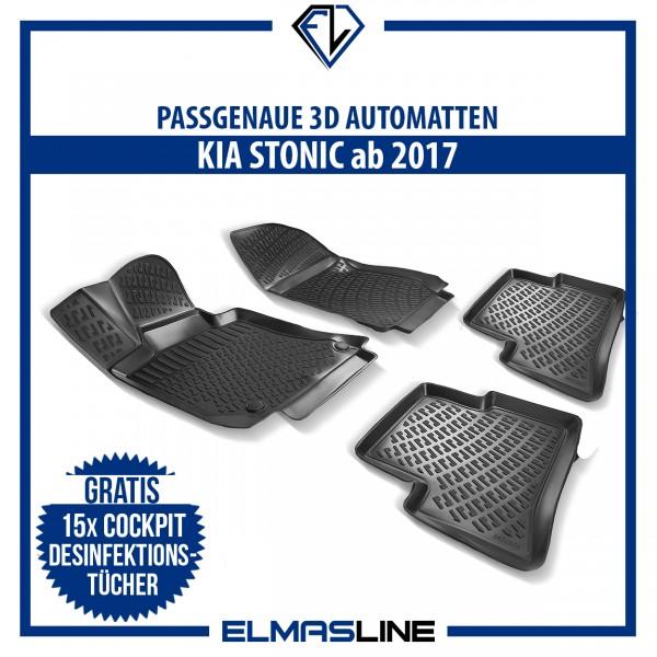 Design 3D Gummimatten Set für KIA STONIC ab 2017