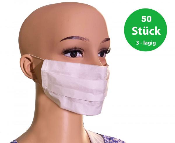50 x Mundschutz 3-Lagig im Set Atemschutzmaske Schutzmaske Atemschutz Atem Maske