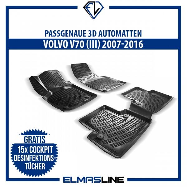 Design 3D Gummimatten Set für VOLVO V70 (III) 2007-2016