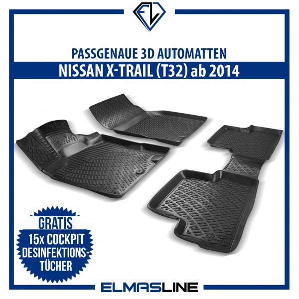 Design 3D Gummimatten Set für NISSAN X-TRAIL (T32) ab 2014