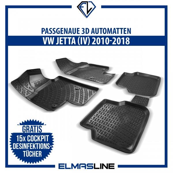 Design 3D Gummimatten Set für VW JETTA (VI) 2010-2018