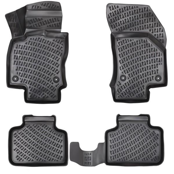 Design 3D Gummimatten Set für SEAT LEON II 2005 - 2012