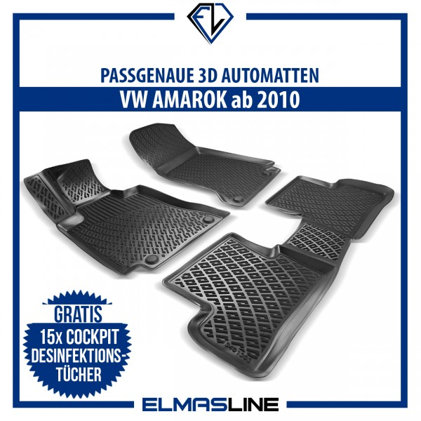 Design 3D Gummimatten Set für VW AMAROK ab 2010