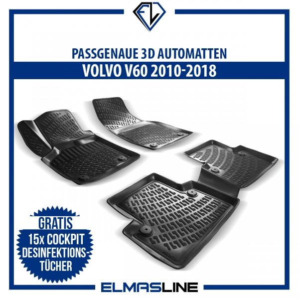 Design 3D Gummimatten Set für VOLVO V60 2010-2018