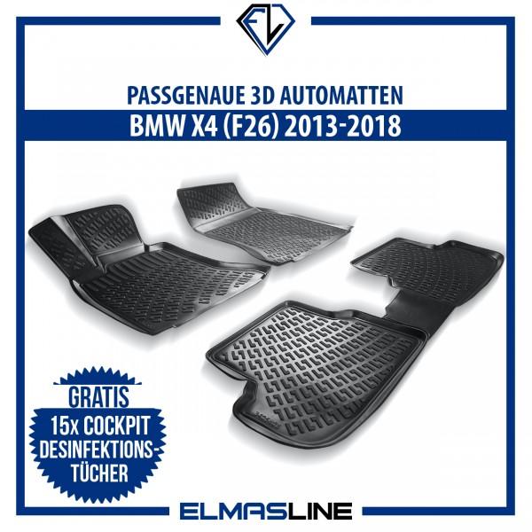 Design 3D Gummimatten Set für BMW X4 (F26) 2013-2018