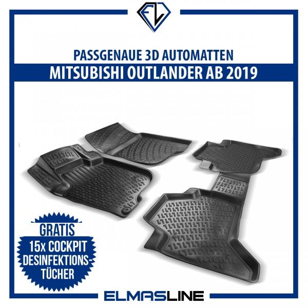 Design 3D Gummimatten Set für MITSUBISHI OUTLANDER ab 2018