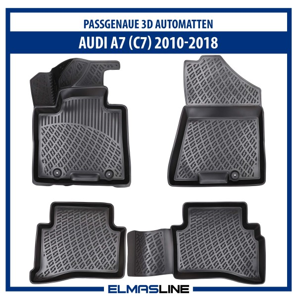 Design 3D Gummimatten Set für AUDI A7 (C7) 2010-2018