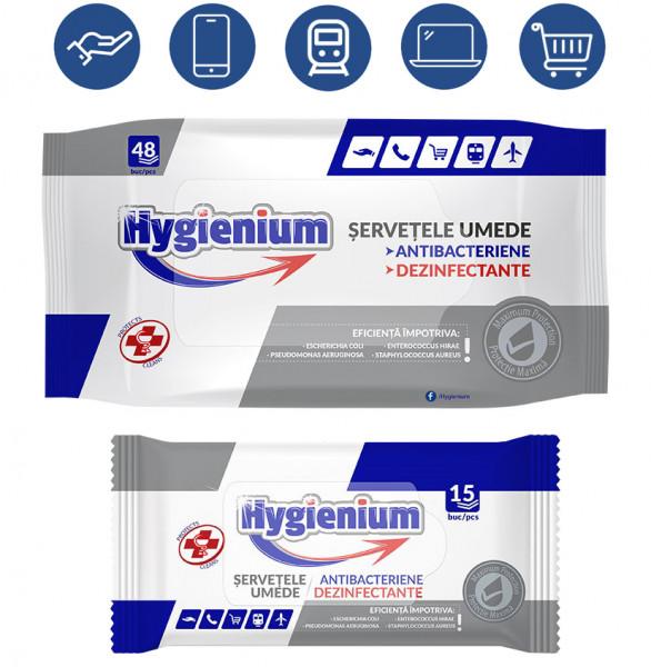 Hygienium Desinfektionstücher Hand Hygiene Hände Fläche Feuchttücher Tücher