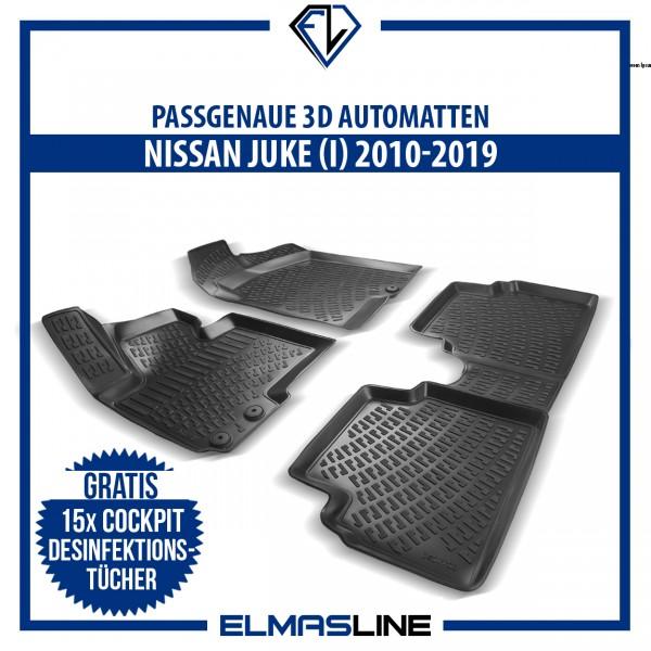 Design 3D Gummimatten Set für NISSAN JUKE (I) 2010-2019