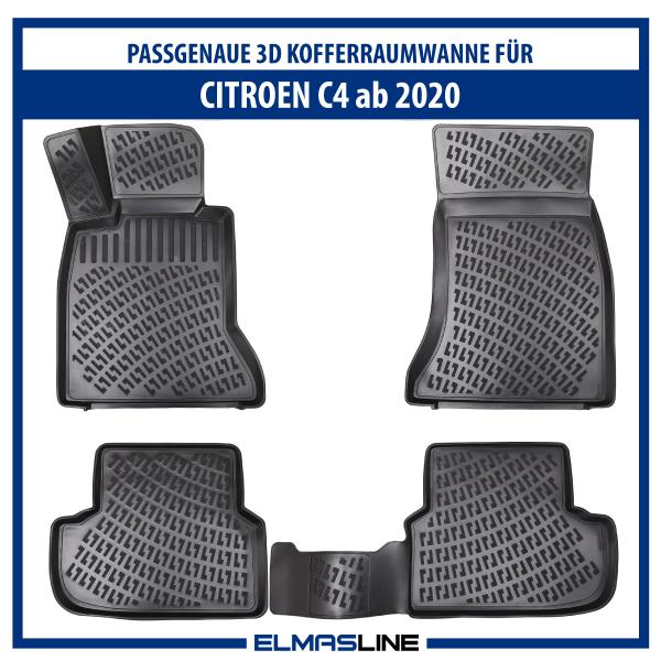 Design 3D Gummimatten Set für CITROEN C4 ab 2020