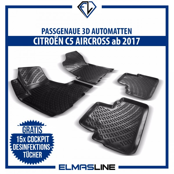 Design 3D Gummimatten Set für CITROËN C5 AIRCROSS ab 2017