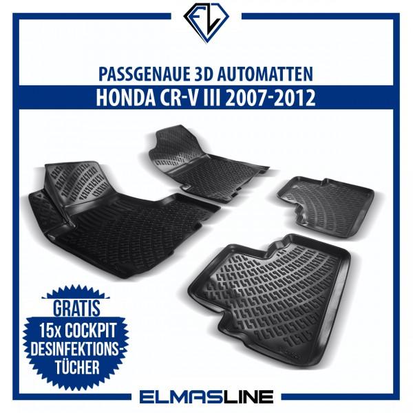 Design 3D Gummimatten Set für HONDA CR-V III 2007-2012
