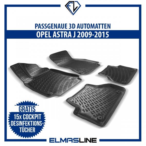 Design 3D Gummimatten Set für OPEL ASTRA J 2009-2015