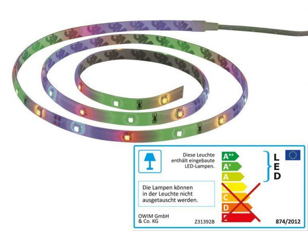 LIVARNO LUX LED Band 1m Farb LEDs Strip Streifen Inklusive Netzteil