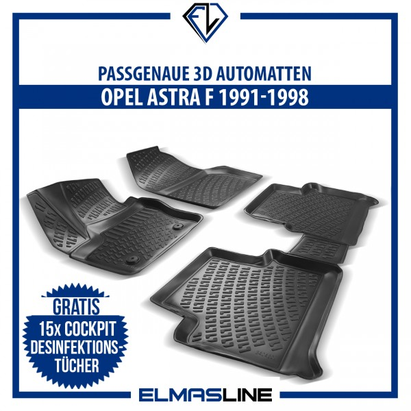Design 3D Gummimatten Set für OPEL ASTRA F 1991–1998